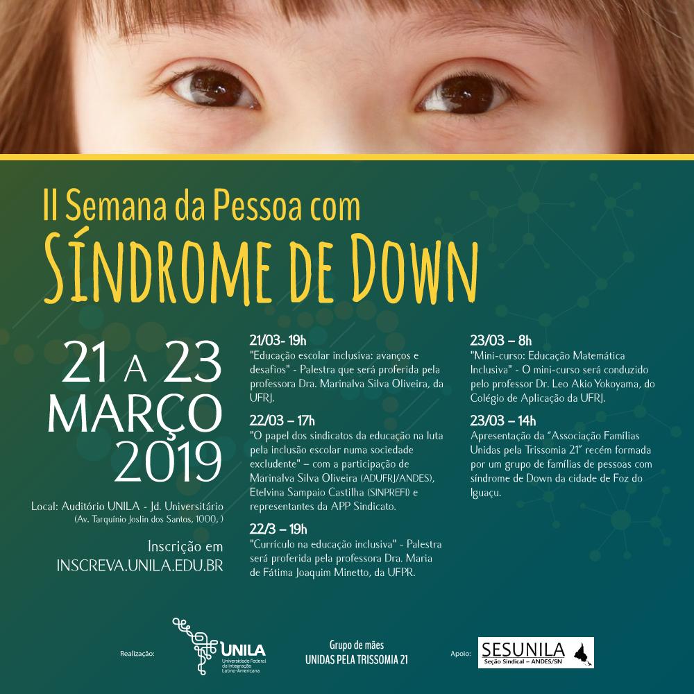 Semana da Pessoa com Síndrome de Down Foz do Iguaçu