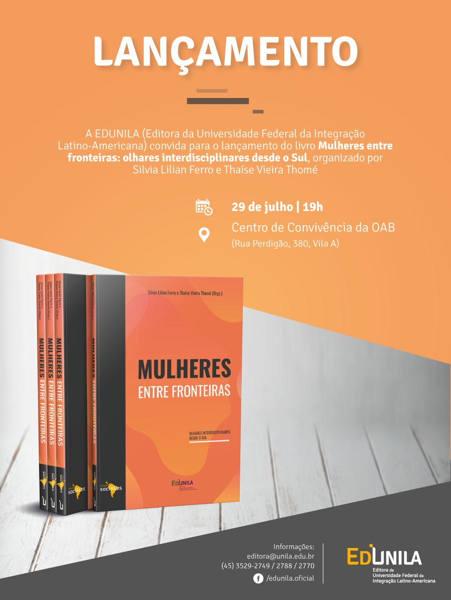 """Lançamento do livro """"Mulheres entre fronteiras"""""""