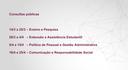 Cronograma das consultas públicas