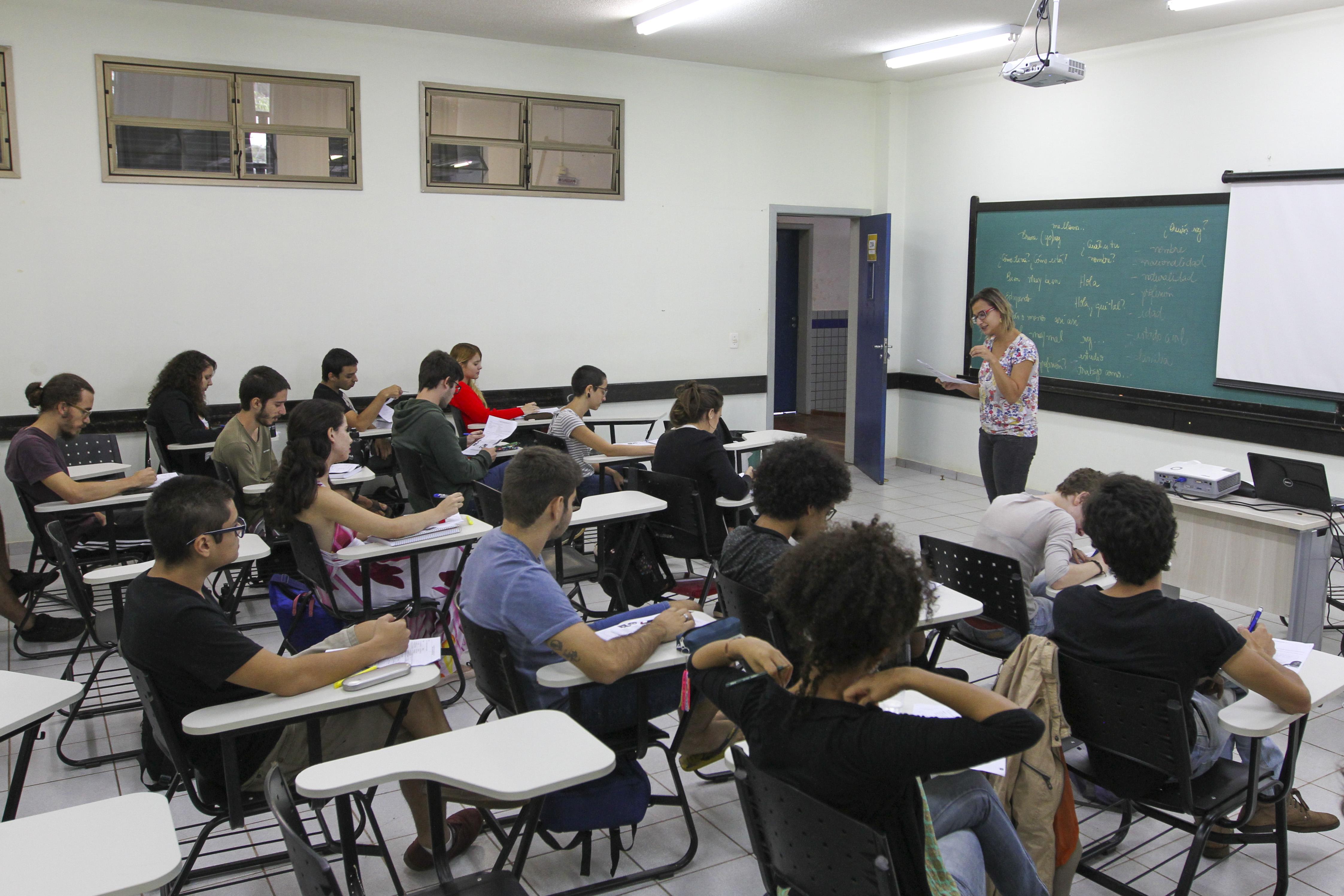imagem de sala de aula da UNILA