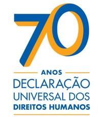 Logotipo alusivo aos 70 anos da Declaração dos Direitos Humanos
