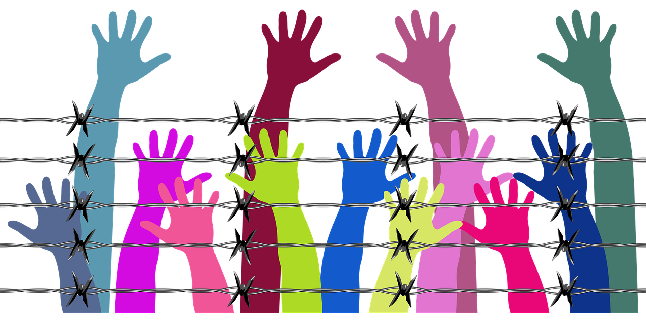 Imagens de braços de diferentes cores