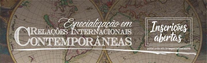 especialização em relações internacionais inscrições abertas