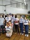 Os integrantes também têm atuado em ações de arrecadação de alimentos durante a pandemia