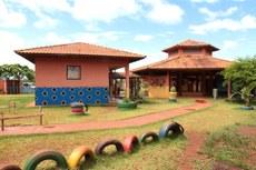 Escola indígena da reserva do Ocoy, prédio que poderia abrigar o curso de Educação Intercultural Indígena