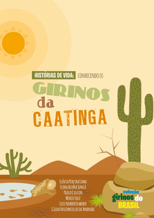 """Capa do livro """"Histórias de vida: conhecendo os girinos da caatinga"""""""