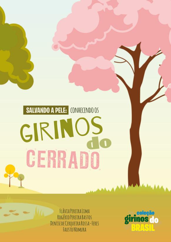 """capa do livro """"Salvando a pele: conhecendo os girinos do Cerrado"""""""