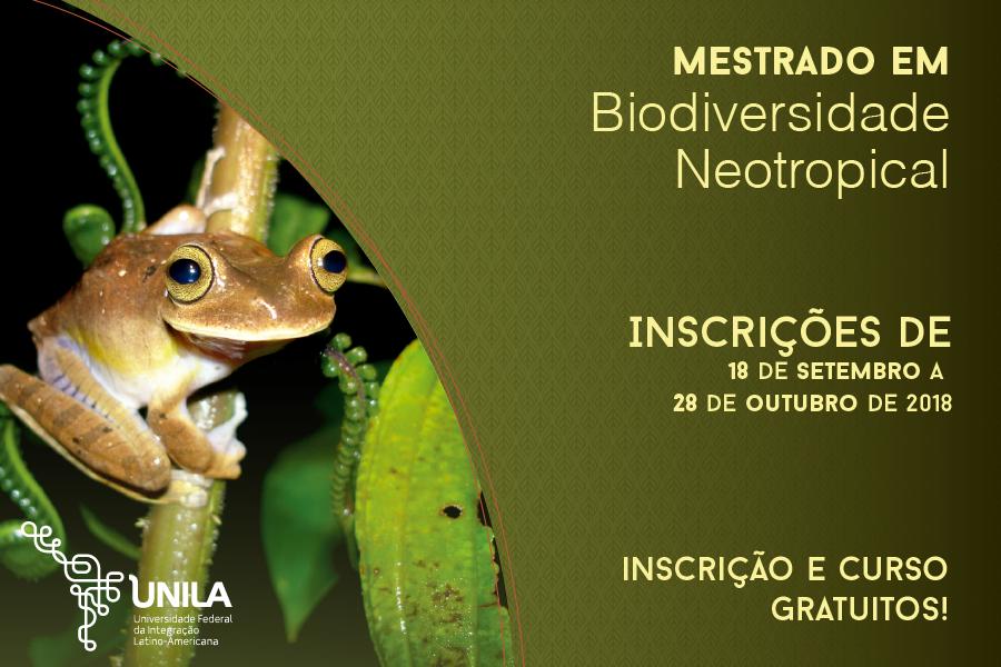 Mestrado em Biodiversidade Neotropical