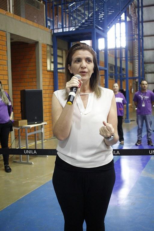 Paloma Basso participou representando o Parque das ;ave