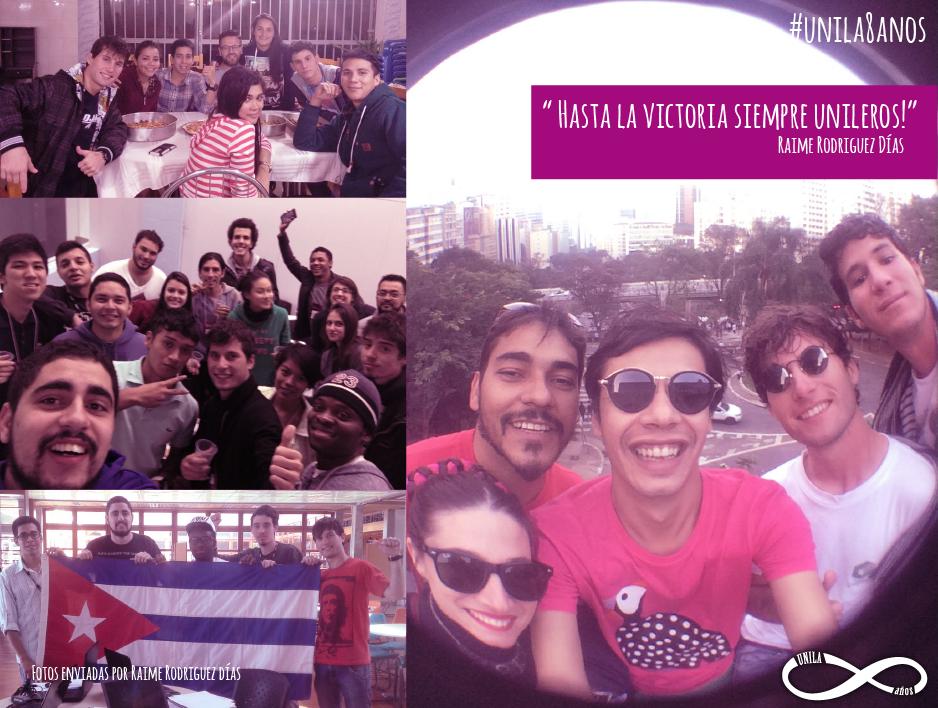 Raime Díaz em fotos com seus amigos
