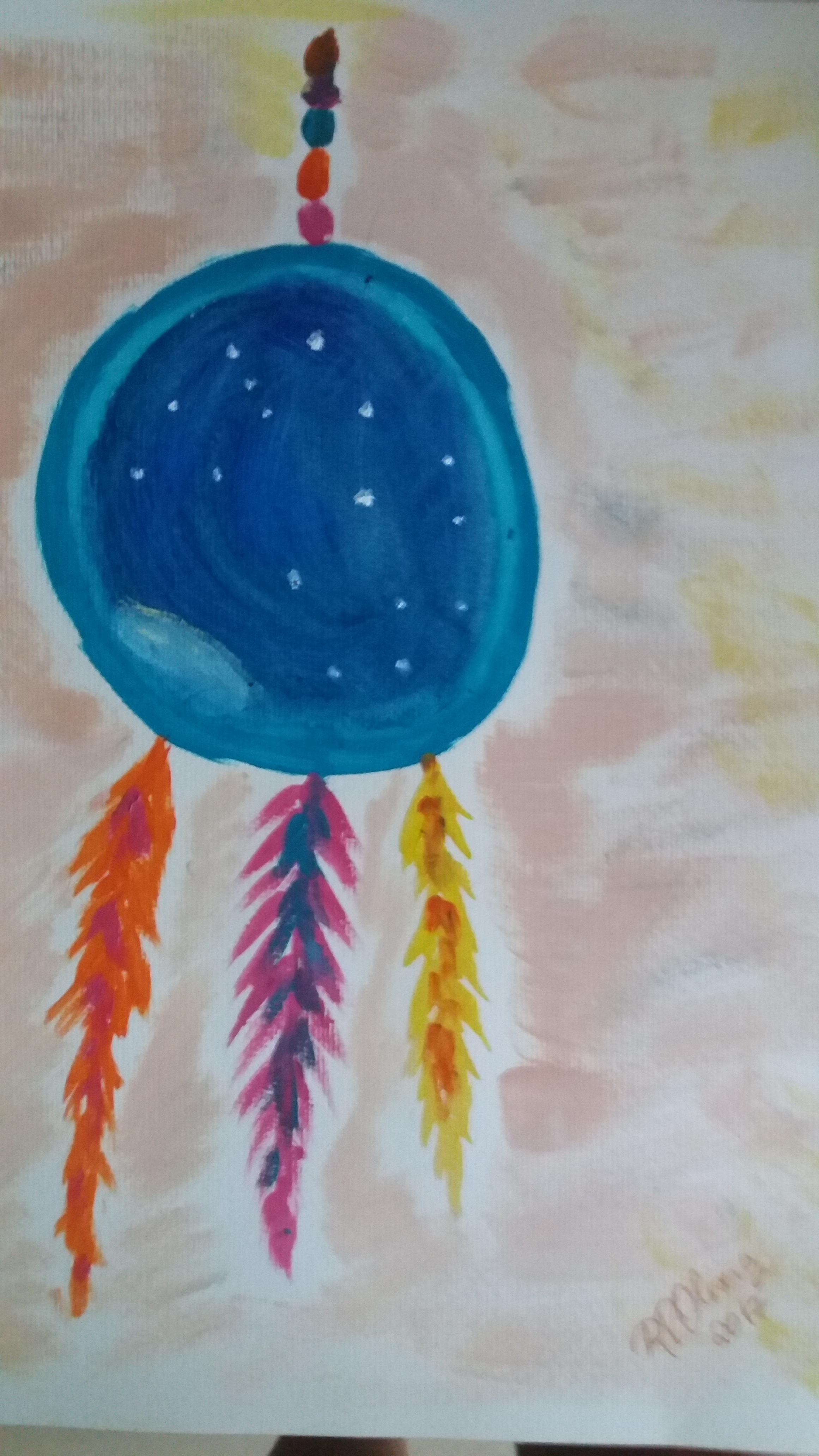 Filtro do infinito pintado pela professora Renata Peixoto de Oliveira em homenagem aos estudantes que partiram no dia 16 de dezembro de 2017
