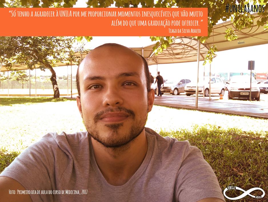 UNILA 8 anos depoimento de Tiago da Silva Araújo
