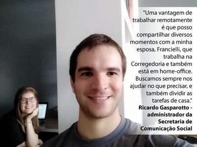 Ricardo Gasparotto e Fran Brandt