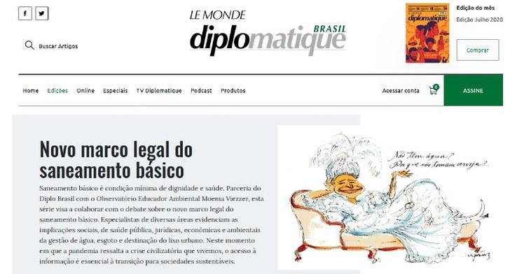 Artigos estão sendo publicados no site do Le Monde Diplomatique