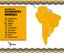 Distribuição, por país, dos inscritos no processo de seleção para indígenas