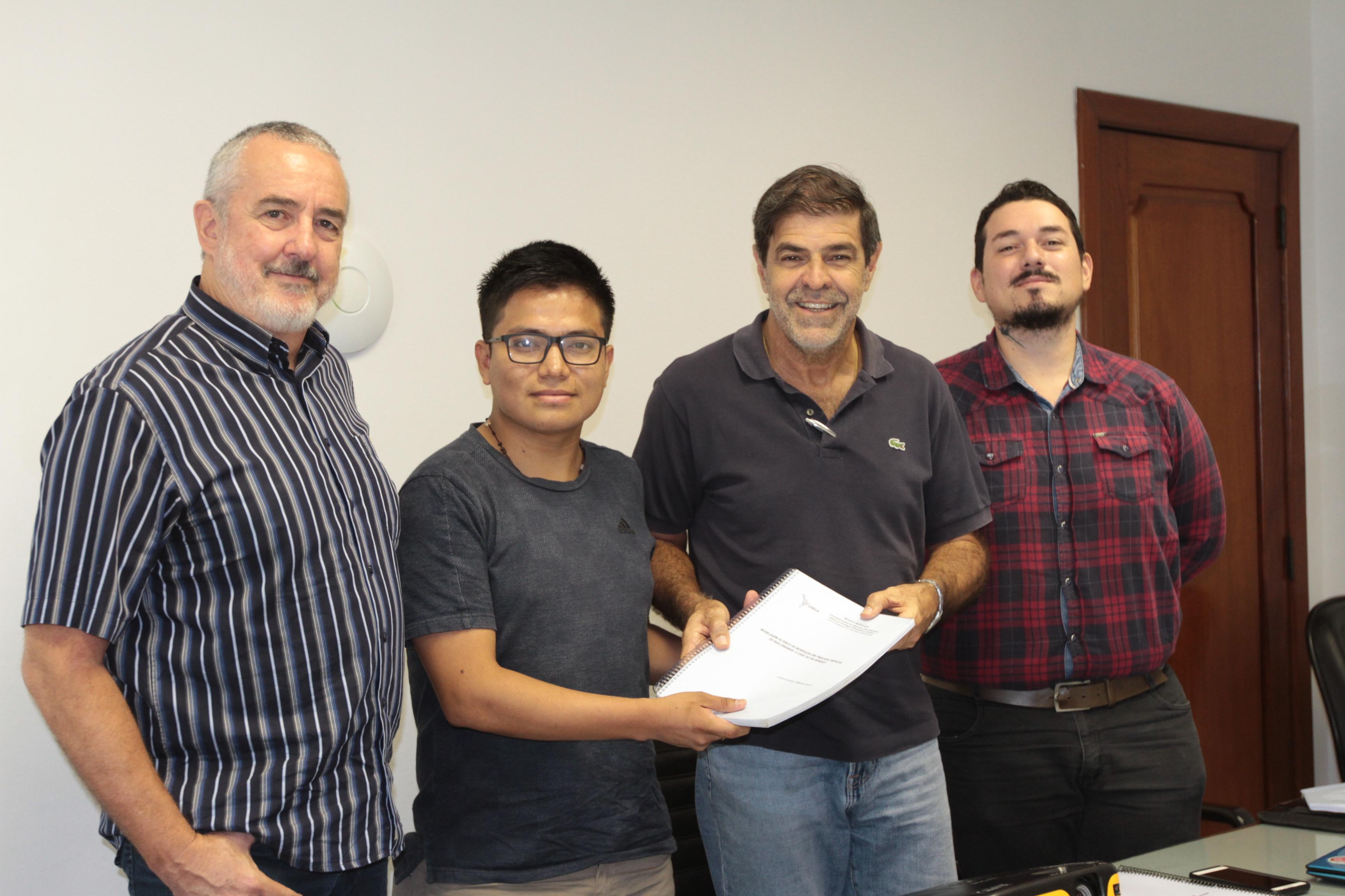 Glaucio Roloff, Edgar Jacho, Elsidio Cavalcanti e Ariel Boldrini