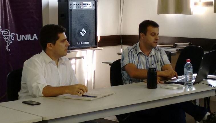 Reitor Gustavo Oliveira Vieira e pró-reitor da PRPPG, Dinaldo Filho