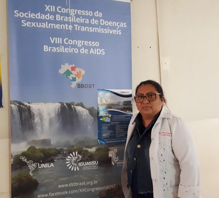 Wilma Arze, presidente do 12º Congresso da Sociedade Brasileira de DST,