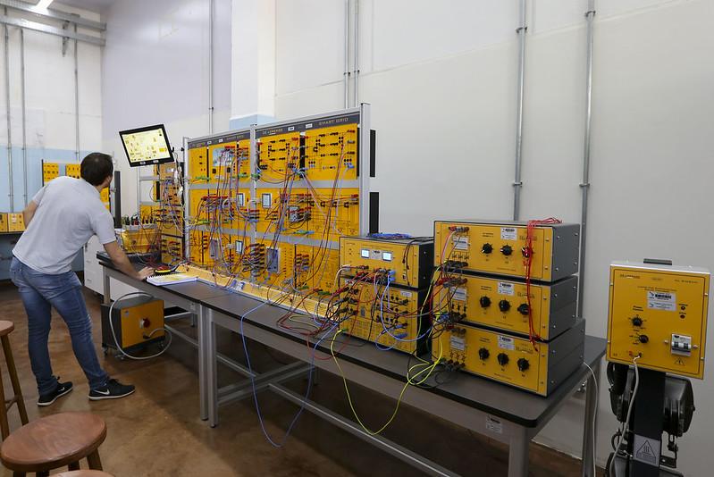 Laboratório de sistemas elétricos, locado no Parque Tecnológico de Itaipu