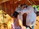 Estudantes de Medicina atendem moradora do Ocoy