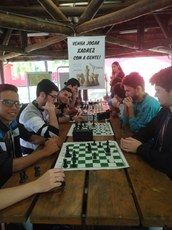Aulas de xadrez, realizadas no ano passado