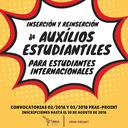 Auxílios Estudantiles - Estudiantes Internacionales