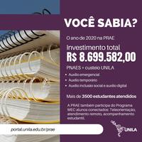 A UNILA está realizando uma série de investimentos nas mais diferentes áreas de atuação da instituição; confira