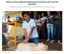UNILA leva ciência para duas escolas de Foz do Iguaçu