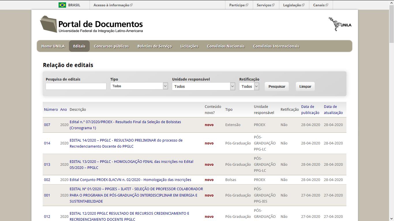 Portal de Documentos UNILA
